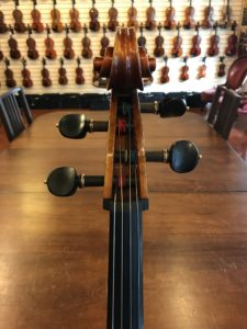 Cello with four standard pegs