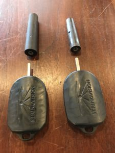 Posture pegs and keys before and after fitting